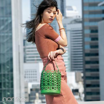 【ケイトスペードのバッグ】この夏はメッシュのバケツ型が新鮮!