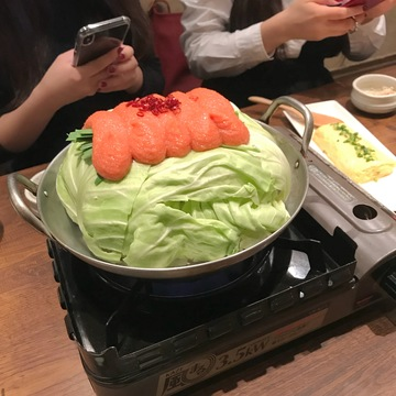 寒い冬は鍋❤︎明太もつ鍋!