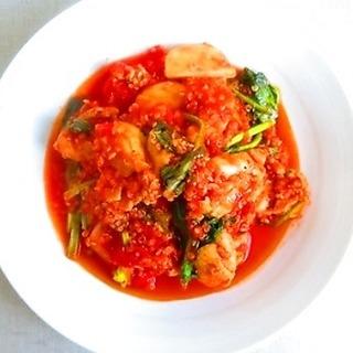 錆びないカラダに。チキン・キヌア・カブのトマト煮レシピ