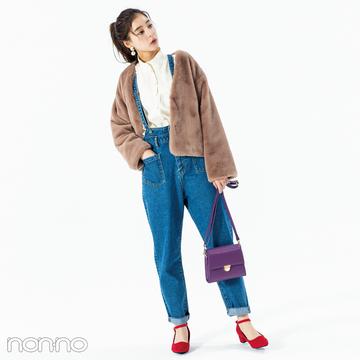 新木優子はサスペつきデニムパンツでこなれカジュアル【毎日コーデ】