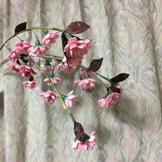 待ち遠しい桜の季節。手縫いの桜でお花見しています