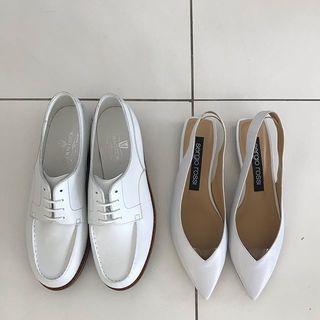 白いフラット靴はやっぱりいい!