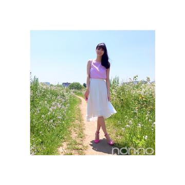 毎日コーデ★新川優愛の揺れスカートコーデが華やか可愛い♡