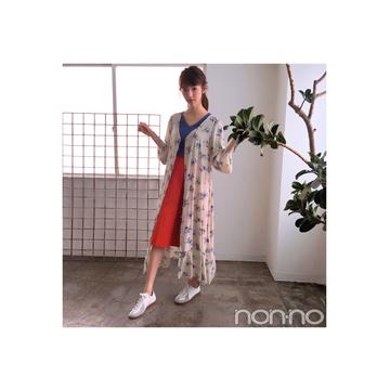 毎日コーデ★鈴木優華は+花柄ガウンでこなれ感を急上昇!