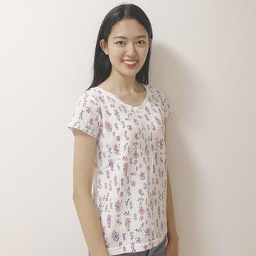 花柄ワッフルTシャツ♡