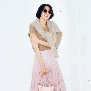 大人っぽく、優しげに見せるなら「ピンク」×「ベージュ」の色合わせが絶妙!