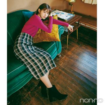 西野七瀬は顔映えニットと大人っぽスカートで新年のスタート!【毎日コーデ】