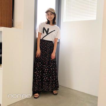鈴木友菜はロゴTをモノトーンコーデでまとめて大人可愛く【毎日コーデ】