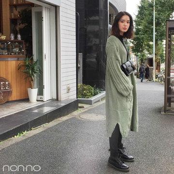 佐谷戸ミナはニットコート+ドクターマーチンで秋コーデ♡【モデルの私服】