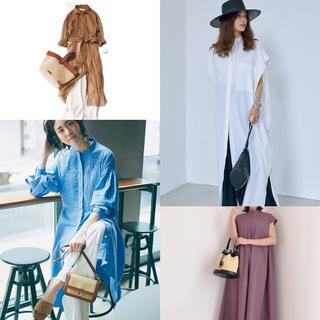 【2021トレンドシャツワンピースまとめ】アラフォーに似合う、今どきなシャツワンピのコーデ |40代ファッション