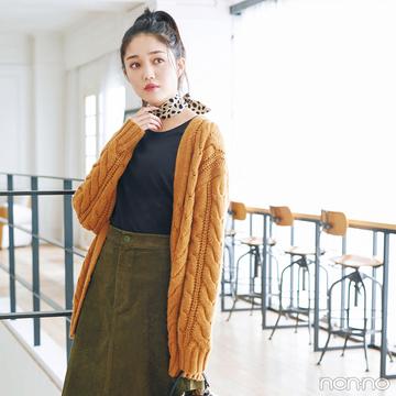 マスタードとカーキ、こっくり色でまとめた冬のスカートスタイル【毎日コーデ】