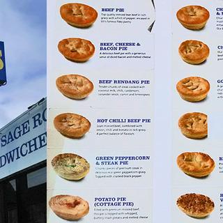 オーストラリアの食事と言ったら、ミートパイ!と肉とポテトと揚げ物。