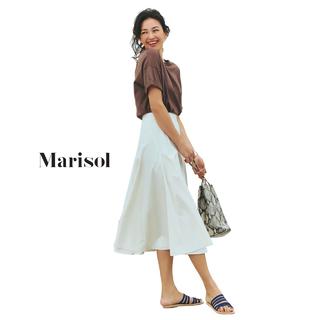 Tシャツ&スカートのワンツーコーデは旬のブラウン×白で洗練させて【2018/8/8コーデ】