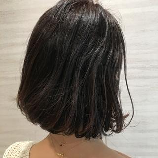 【40代 髪型】秋のナチュラルボブヘアー