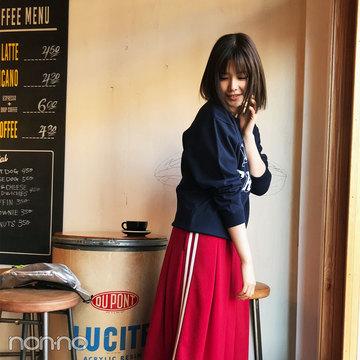 渡邉理佐のスポMIXがラフ可愛い彼女感スウェットスタイル【毎日コーデ】