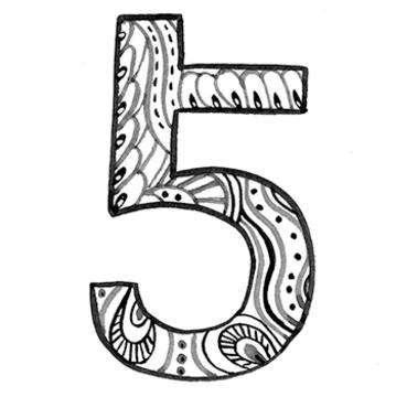 イヤーナンバー「5」