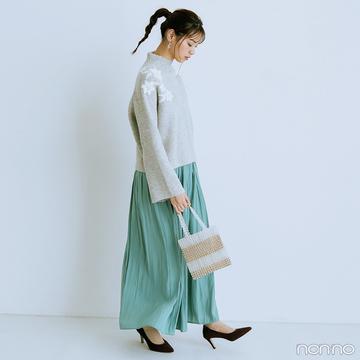 【#西野七瀬の毎日ニット】11/4は「いい刺繍の日」