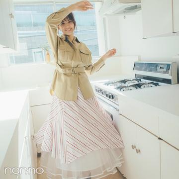 渡邉理佐はスカートレイヤードでボリュームアップ、とっておきの可愛さに♡【毎日コーデ】