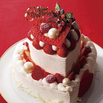 ハート型が可愛らしい2段ケーキ「クール」(20000円)