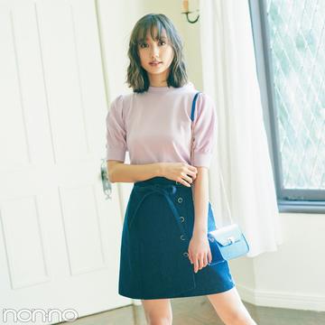 この春コーデを盛るなら、ミニスカートとIラインスカート が必須!