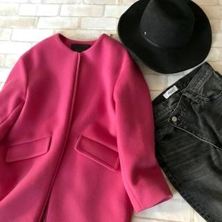 「どこのピンク?」よく聞かれる顔映えコートは、やはりあのお店です
