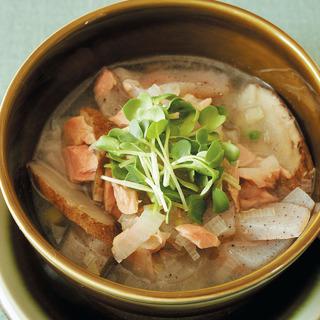毒素排出&ダイエットに。ごぼう、こんにゃく、ツナの具だくさんスープ
