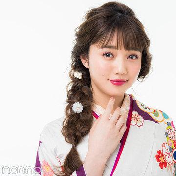 松川菜々花も2018年に成人式! ロングならふわ編みおしゃれ髪型もアリ♡