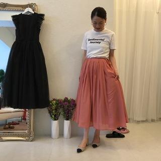 こちらのローズピンクのラップスカートオーダーしました♡