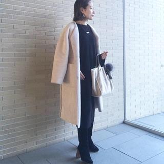 しっかり防寒ロングブーツコーデで女子会★銀座ディナー