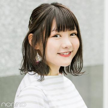 簡単ヘアアレンジ★ 外ハネ&ハーフアップで小顔に!【カワイイ選抜】