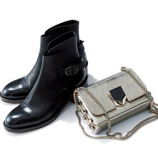 """シンプル服を""""素敵""""にまで引き上げる「靴&バッグセット」"""