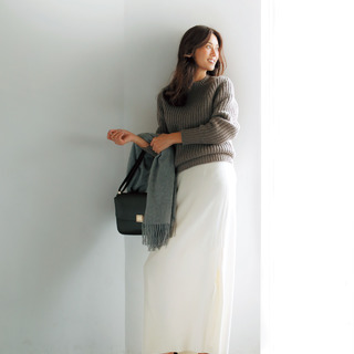 ◇ローゲージニット✕ロング丈とろみスカート