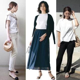 定番「白Tシャツ」の着こなしを更新! アラフォーがこなれて見えるコーデ術まとめ|40代ファッション