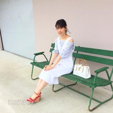 西野七瀬は白ジャンスカで清楚可愛い♡夏コーデに【毎日コーデ】