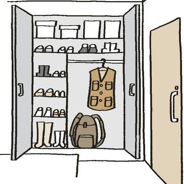玄関に避難グッズを 用意しておく