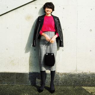 モデル・渡辺佳子さんの「High&Low」で作る冬の女っぷりコーデ