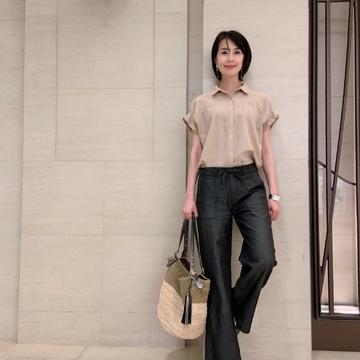 プチプラファッションで、サクッと「夏の黒」
