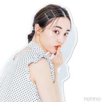 【前髪×ひとつ結びヘアアレンジ図鑑⑥】センターパートにはぐるりんおだんご!