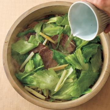 3.牛肉シャキシャキ焼き鍋