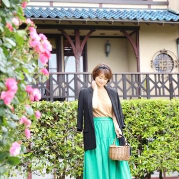 「きれい色マキシスカート」で瞬間着映え♪
