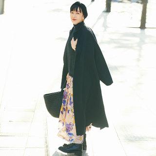 今年の「ラクして女らしい」はスカート+ツヤでかなえる【おしゃれプロの冬コーデマイルール】