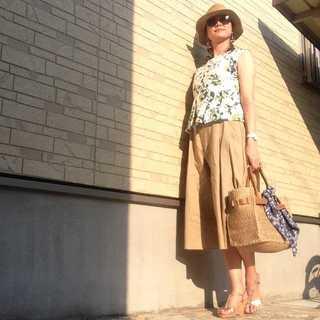 アラフォーの真夏コーデはリネン素材が大活躍!