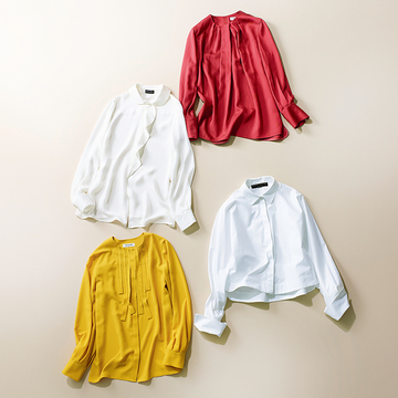【オンライン映えトップス】鮮やか色&ホワイトで存在感きわだつ「シャツ&ブラウス」