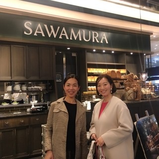 奄美のチョコのおかげで美女組ランチ@SAWAMURA