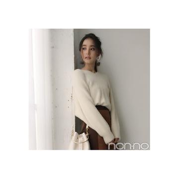 新木優子は白ニット×ミニスカで冬のモテコーデ♡ 【毎日コーデ】