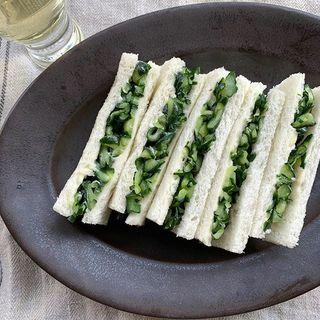 有元葉子さんの大反響メニュー!コリコリっとした食感とバターの組み合わせの「きゅうりサンド」