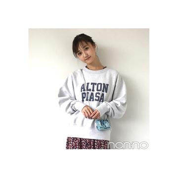 鈴木友菜が着る花柄ワンピのカジュアルMIXコーデ【毎日コーデ】
