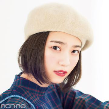 七瀬ボブのヘアアレンジ♡ ベレー帽でおしゃれ度アップ!