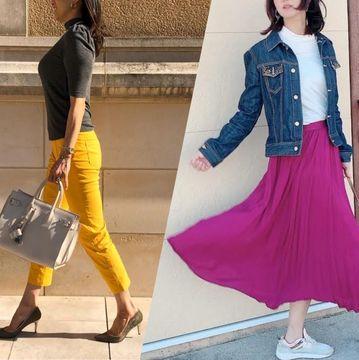 【2020年春ファッション】50代読者モデル華組の「華やぎスカート」「主役級パンツ」おしゃれコーデ特集