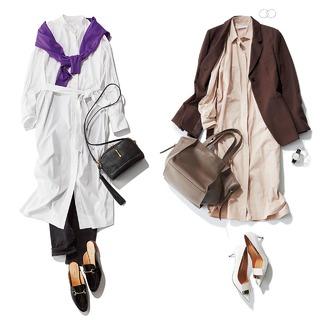 40代のためのシャツワンピース着こなし実例集|アラフォーファッション